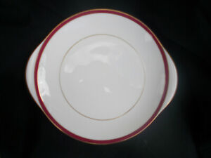 Minton. SATURN. Red.  Cake Plate.