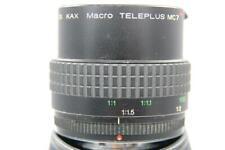 Pentax KA Ajuste Enfoque Manual Teleplus MC7 Teleconvertidor x2 y 1:1 Macro 7 elemento