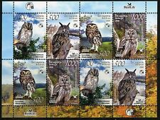 2008. Belarus. Birds of Belarus. Owls. M/sheet. MNH