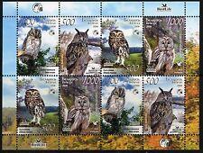 2008. Belarus. Birds of Belarus. Owls. M/sheet. MNH