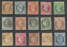 LOT (#22) timbres France Classiques Napoléon Ceres, TB