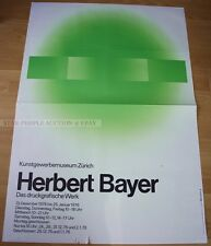 SWISS EXHIBITION XXL POSTER 1976 - HERBERT BAYER PRINTED WORKS art print zürich