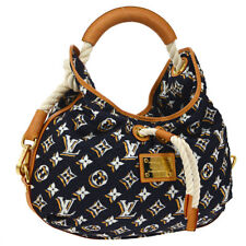 AUTH LOUIS VUITTON CRUISE BULLES MM SHOULDER BAG NAVY MONOGRAM M40235 K08096