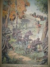 GRANDES MANOEUVRES BATAILLON CYCLISTES KAISER LA SCHLUCHT LE PETIT PARISIEN 1908