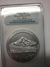 2010 - P sp69 America The Beautiful atb coin MT HOOD 5 oz silver