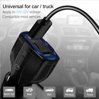 New Quick Car Charger Dual USB Port 3.5 Fast Charging Smart Mobile Phone QC 3.0