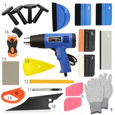 21 PCS Window Tint Wrapping Vinyl Tools Squeegee Scraper Applicator Heat Gun Kit