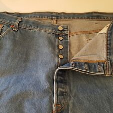 Levis Jeans Vintage Pre 80s Red Tab Measure 46 x 30 Med Blue Button Fly