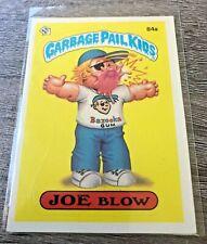 Joe Blow - 1986 Series 3 Garbage Pail Kids Cards #84a (VINTAGE/PRINCIPAL BACK)