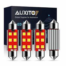 Auxito 4pc White 42mm 578 211 2 Festoon Dome Map License Led Interior Light Bulb