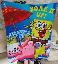 Nickelodeon SpongBob Soft Fleece Throw Lightweight Lap Blanket Girls Boys 386