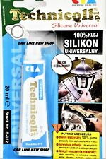 Universal Silicone Transparent Adhesive Glue CLEAR LIQUID GASKET SEALER 20ml