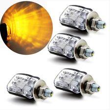 4PCS 6 LEDs 12V Black Mini Motorcycle Turn Signal Blinker Indicator Lamp AU