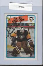 Gilles Meloche 1988 Topps Autograph #8 Penguins