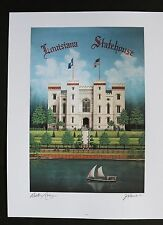 """""""Louisiana Statehouse"""" (Old State Capitoll) by Jim Blanchard, signed & titled"""
