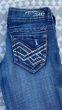 Nwt Hydraulic Bailey Micro Boot Medium Wash Blue Denim Jeans Size 1/2 New