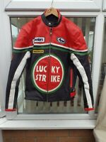 "NORFOLK LEATHERS LUCKY STRIKE LEATHER MOTOR CYCLE JACKET,48""CH,44""W,SIZE XXL,VGC"