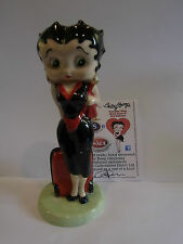 WADE BETTY BOOP TRAVELLER ONE OF A KIND COLOURWAY BLACK DRESS RED SUITCASE
