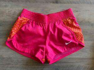 NIKE Women's Girls' Shorts Pink Orange Size XS