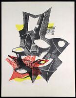 Untitled, 1954. Farblithographie Conrad WESTPFAHL (1891-1976 D), handsigniert