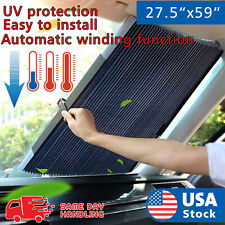 Aluminum Foil Automatic Retractable window car front windshield Sun Shade visor