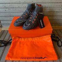 Nike Hypervenom Phantom III Elite FG Soccer Cleats Dark Grey AH7270-081 Size 7.5
