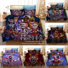 Five Nights at Freddy's 3PCS Bedding Set Duvet Cover Pillowcase 3D Quilt Cover