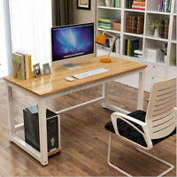 Wood Computer Desk Office Study Writing Table Laptop Workstation Home  USA