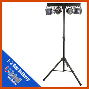 QTX Derby FX LED Party Bar All-In-One DJ Disco Stage Band Lighting System Bundle