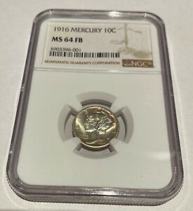 1916 Mercury Dime  - NGC MS64 FB - AWESOME COIN - Full Bands - SUPER NICE