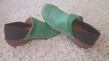 Rocky 4eursole Embellished Leather Comfort Clogs Womens 10-10.5M (41)  GREEN