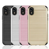 """For iPhone X / 10 / XR 6.1"""" Hybrid Armor Dual Layered Shockproof TPU Case Cover"""