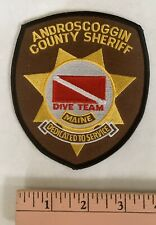New listing Vintage Androscoggin County Maine Sheriff Dive Team Scuba Patch