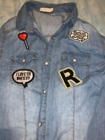 Denim Shirt With Patches Size M