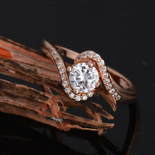 Womens White Wedding Jewelry Ring Crystal CZ Engagement Silver Zirconia Ring