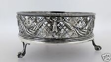 Antique Georgian Crested Sterling Silver Cruet Stand - EL Edward Lowe London SL