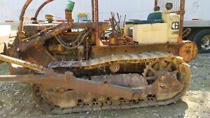 Caterpillar Diesel Bulldozer D4D, Winch, 10 Foot Blade