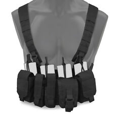 Bulldog Kinetic Military Tactical MOLLE Chest Rig Harness Vest Carrier Black NEW