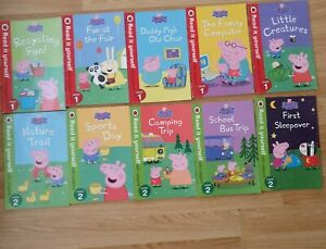 10 x Peppa Pig Read It Yourself with Ladybird Books Level 1 & Level 2