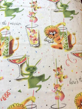 RPFMM10 Cocktail Hour Kitsch Atomic Retro Bar Happy Hour Cotton Quilt Fabric