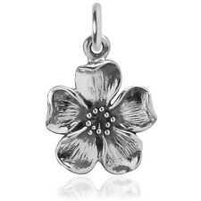 Blossom Flower Charm Sterling Silver .925 Traditional Nature Spring
