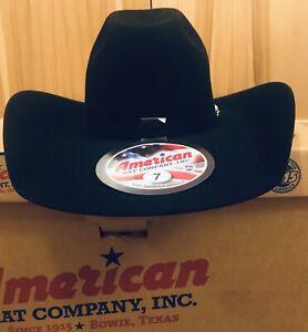 American Hat Company Custom Black Felt Hat 20x