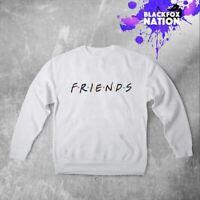 Friends TV Logo Sweatshirt Unisex Tumblr Printed Pullover Long Sleeve Gift Shirt