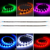 """2 Pack  DC 12V Waterproof 1 2 3 4 Ft Led Strip Underbody Light with 6"""" wires"""