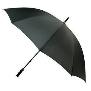 "51"" STORM PROOF Umbrella LARGE WINDPROOF Manual Walking Stick Brolly Rain"