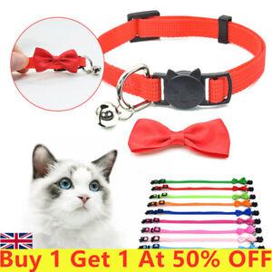 Bow Tie Adjustable Kitten Necktie Collar Bow Dot Bell Cat Small Pet Puppys