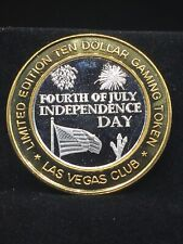 $10 .999 fine silver casino gaming token FOURTH OF JULY INDEPENDENCE DAY