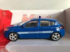 Voiture Miniature Mégane Gendarmerie Sécurité1/43 Collection Métal Neuf