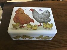 Vanessa Lubach Hens with Chicks Rectangular Tin, 1st Quality