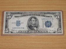 1934 B $5 Five Dollar Silver Certificate Fr. 1652 Julian-Vinson (Rare Note)